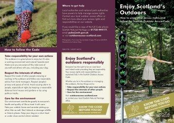 Enjoy Scotland's Outdoors - Scottish Natural Heritage