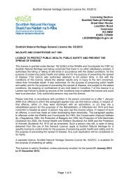 Scottish Natural Heritage General Licence No. 03/2012 Page 1 of 5 ...