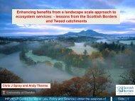 Chris Spray, University of Dundee - Scottish Natural Heritage