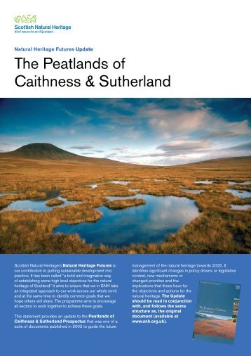 The Peatlands of Caithness & Sutherland - Scottish Natural Heritage