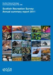 Scottish Recreation Survey: Annual summary report 2011