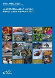 Scottish Recreation Survey: annual summary report 2010