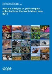 Infaunal analysis of grab samples collected from the North Minch ...