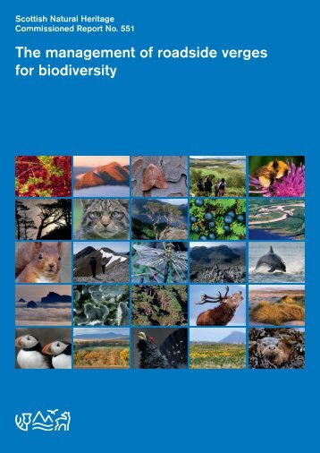 The management of roadside verges for biodiversity