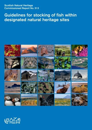 Guidelines for stocking of fish within designated natural heritage sites