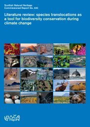 Literature review: species translocations as a tool for biodiversity ...