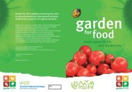 The food gardener's directory - Scottish Natural Heritage