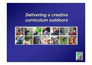 Delivering a creative curriculum outdoors