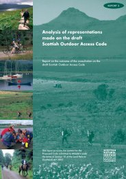 Analysis of representations made on the draft Scottish Outdoor ...