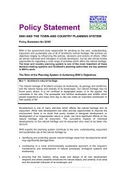 SNH Policy Statement - Town & Country Planning