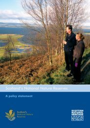 Scotland's National Nature Reserves A policy statement.