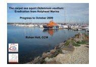 The carpet sea squirt Didemnum vexillum: Eradication from ...
