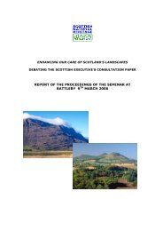 A report of a NSA seminar organised by SNH and the Scottish ...