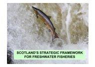 scotland's strategic framework for freshwater fisheries