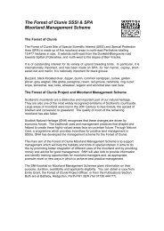 The Forest of Clunie SSSI & SPA Moorland Management Scheme