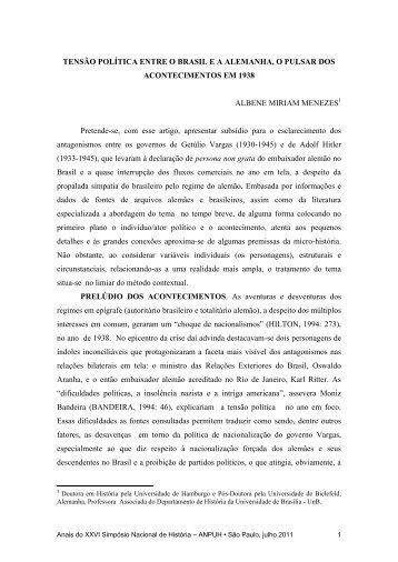 albene miriam ferreira menezes - XXVI Simpósio Nacional de História
