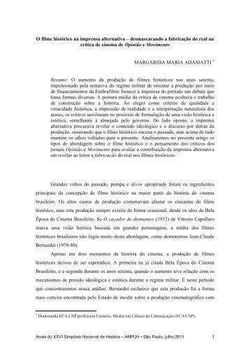 O filme histórico na imprensa alternativa - XXVI Simpósio Nacional ...