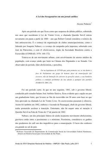 Alceste Pinheiro de Almeida - XXVI Simpósio Nacional de História