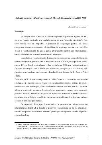 Antonio Carlos Moraes Lessa - XXVI Simpósio Nacional de História