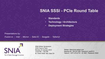 PCIe Round Table - SNIA