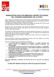 mobilisation face aux menaces contre les acquis de l ... - Snj-cgt