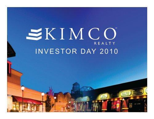 Kimco Investor Day Presentation Part 1 - SNL Financial