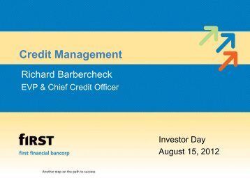 Investor Day 2012 Credit Management - SNL Financial