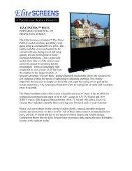 EZ Cinema Plus Press Release - Elite Screens