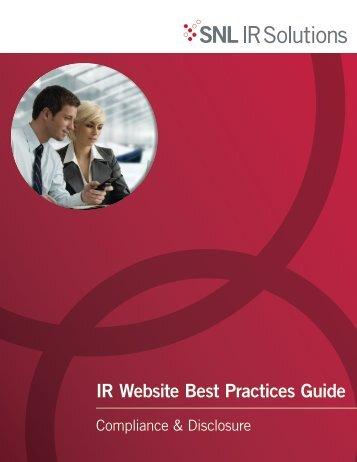 IR Website Best Practices Guide - SNL Financial