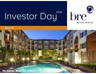 Investor Day - SNL Financial