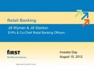 Investor Day 2012 Retail Banking - SNL Financial