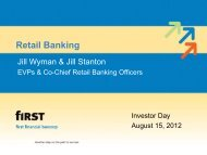 Investor Day 2012 Retail Banking - SNL Financial