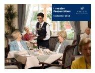 Investor Presentation – September 2012 - SNL Financial