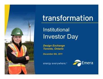 Emera 2011 Investor Day - SNL Financial