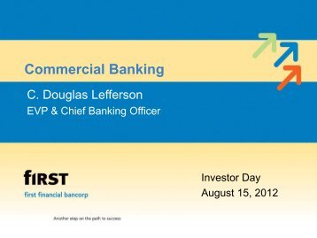 Investor Day 2012 Commercial Banking - SNL Financial
