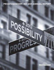 PRIVATEBANCORP, INC. 2011 ANNUAL REPORT - SNL Financial