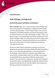 Web 2.0 Jünger, vereinigt euch! - DocCheck AG