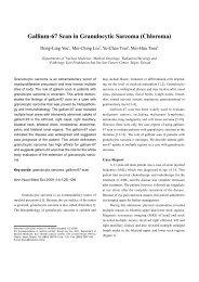 Gallium-67 Scan in Granulocytic Sarcoma (Chloroma)