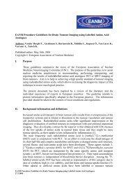 EANM Procedure Guidelines for Brain Tumour Imaging using ...