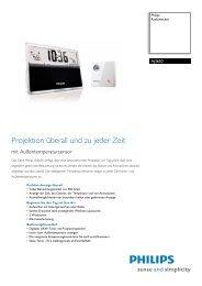 AJ3650/12 Philips Radiowecker - Snogard