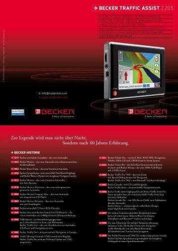 Becker Traffic Assist Z 205 - Computeruniverse