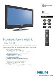 32PFL7332/10 Philips Breitbild-Flat TV mit PIXEL PLUS 2 HD - Prad