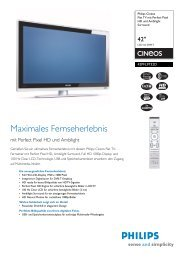 42PFL9732D/10 Philips Flat TV mit Perfect Pixel HD und ... - Snogard
