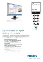 240SW9FS/00 Philips LCD widescreen monitor - Snogard