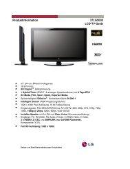 37LG5000 LCD-TV-Gerät Produktinformation - OMEGA