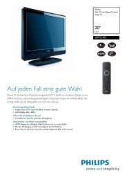20PFL3403/10 Philips Flat TV mit Digital Crystal Clear III - Snogard