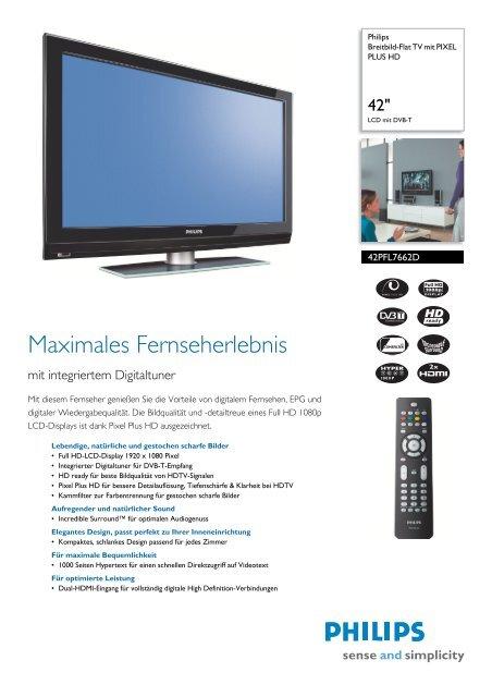 42PFL7662D/12 Philips Breitbild-Flat TV mit PIXEL PLUS HD - Prad