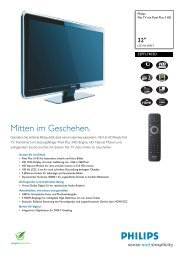 32PFL7403D/12 Philips Flat TV mit Pixel Plus 3 HD - Snogard