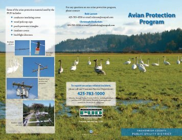 Avian Protection Program - Snohomish County PUD