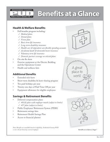Benefits_Glance0413.pdf - Snohomish County PUD